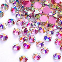 1440pcs Rose Gold Bottom Crystal Non Hotfix FlatBack Rhinest