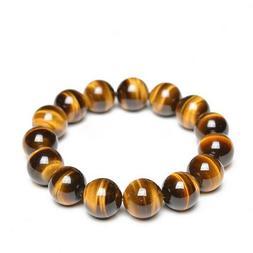 14mm Tiger Eye Beads.100%Natural.Yellow/Red. Men & Women. Gr