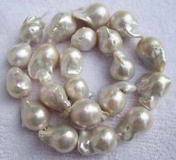 15-25mm Natural Baroque White FreshWater Pearl Loose Beads15