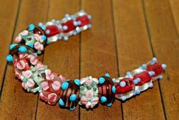 15 pc set Handcrafted Fine Murano Lampwork Glass Beads -Patr