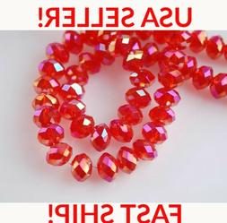 15 pcs 6x8mm Swarovski Austrian Rondelle Crystal beads Jewel