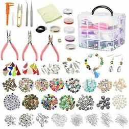 1526PCS Jewelry Making Supplies Beads And Charms Findings Ki