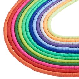 "17.7"" Handmade Polymer Clay Beads Disc Heishi Beads Loose Sp"