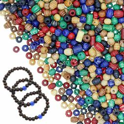 1800 Pieces Wood Beads for Jewelry Making  - Assorted Natura
