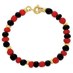 18k Gold Plated Evil Eye Protection Beaded Toddler Bracelet