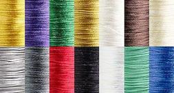 1mm Thick Bugtail Satin Beading Cord String Cording For Bead