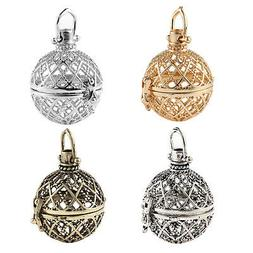 1pcs Cages Hollow Ball Alloy Charms Beads Pendants Necklace