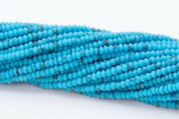 1x1MM Natural Blue Turquoise Beads AAA Rondelle Loose Beads