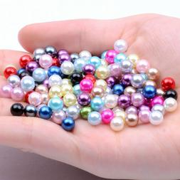 2-12mm No Hole Round Resin Imitation Pearls Beads DIY for je