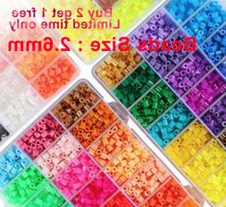 2.6mm Mini 500/ 1000/2000 pcs HAMA/PERLER BEADS for Kids Gif