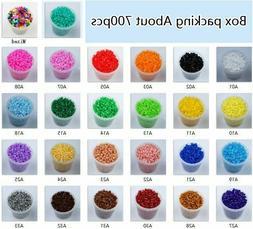 2.6mm Mini Hama Perler Iron Fuse Beads 700Pcs/box 84 colors