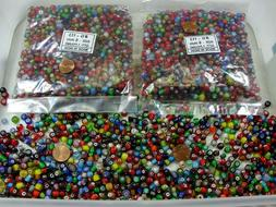 2 Pounds Assorted Colors India Spacer Glass Beads Wholesale