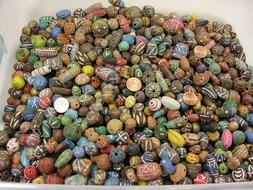 2 Pounds Assorted Sizes India Handmade Clay Beads Wholesale