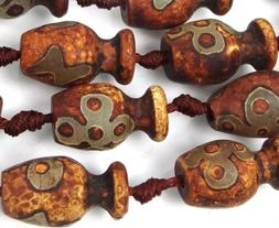 20-24mm Tibetan Agate Vase Pendant Focal Beads