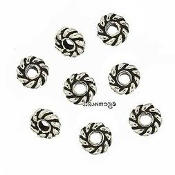 20 Bali Sterling Silver Rope Rondelle Spacer Beads 3.7mm #97