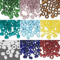 100 Glass 9mm x 7mm Crow Pony Barrel Shaped Beads with Big 2