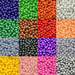 20 Grams of 600 Plastic Acrylic 4mm Round Solid Opaque Color