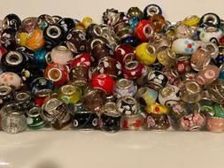 20 Pc Mixed Murano Glass European Bead Fits European Style B
