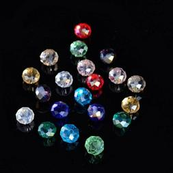 20 Rondelle Beads Glass Crystal Faceted 6x4mm Jewelry Suppli