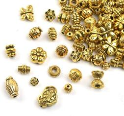 20 Spacer Beads Antique Gold Findings Assorted Lot Jewelry M