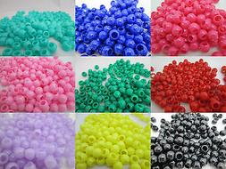 200 - 5mm x 7mm Pony Beads - Color Choice