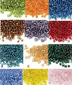 200 Matsuno 6/0 Glass Seed Beads Silver Lined Spacer Beads N