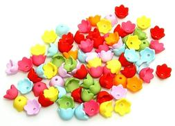 200 Assorted Opaque Colors Cupped 10mm Tulip Lilly of the Va