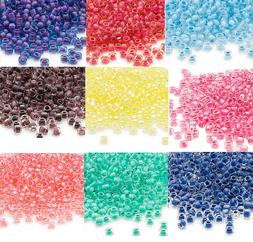 200 Inside Color Matsuno 6/0 Glass Seed Beads Translucent &