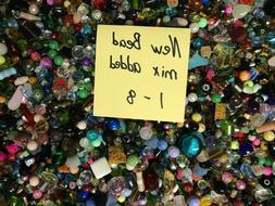 ~200~ Piece Glass Loose Beads Bulk Mixed Lot Craft Jewelry G