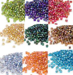 200 Rainbow Silver Lined Matsuno 6/0 Glass Seed Beads Spacer