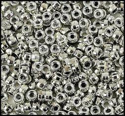"200 Shiny Metallic Silver Pony Beads 3/8"" 9mm Kids Crafts Je"