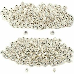 200 Sterling Silver Corrugated Beads 3mm & 200 Sterling Silv