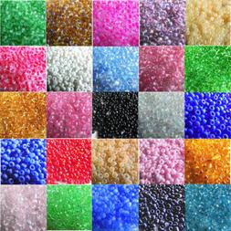 2000/4000 Pcs 2mm Czech Glass Seed Spacer Beads Jewelry Maki