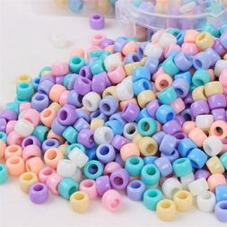 200pcs Acrylic Beads Large Hole Candy Kids DIY Necklace Brac