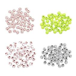 200x Sports Ball Acrylic Loose Large Hole Spacer Beads Charm