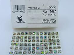 24 Pcs. SWAROVSKI® Crystal 8mm Round Beads, VITRAIL MEDIUM,