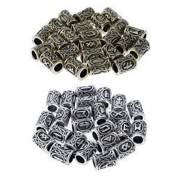 24Pcs Vintage Metal Beads Loose Charms for Nordic Hair Beard