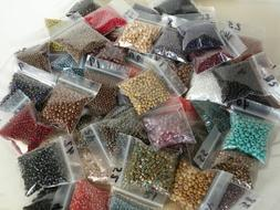 10 Bags Assorted Size & Color Czech Seed Beads 10/0 11/0 6/0