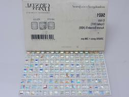 25 Pcs. SWAROVSKI® Crystal Square Beads,Art. #5601 6mm,Auro