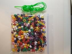"250 RAINBOW PONY BEADS / REXLACE 60"" bracelet and necklace k"