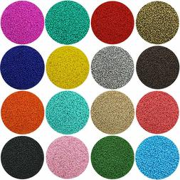 2500Pcs 1.8mm Small Round Opaque Glass Seed Beads Set For DI