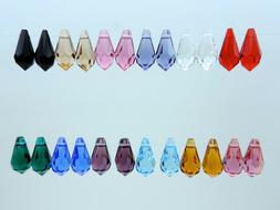 26 Pcs. SWAROVSKI® Teardrops Art. 6000 11mm, Assorted Color