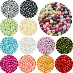 3/4/6/8/10mm No Hole Round ABS Imitation Pearl Beads Plastic