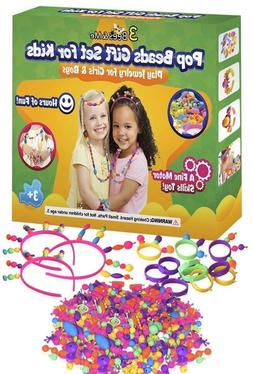 3 Bees & Me Pop Beads for Girls & Kids Age 3 4 5 6 7 8 - Fun