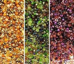 3 Colors: Miyuki Rocaille Seed Beads Size 15/0 Warm Tones Mi