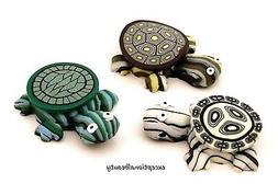 3 Fimo Polymer Clay Turtle Beads Drop Focal Pendants Assorte