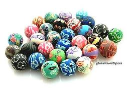 30 Fimo Polymer Clay 12-13mm Round Ball Sphere Assorted Colo