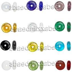 30 Flat Round Czech Glass Rondelle Spacer Disc Beads Assorte