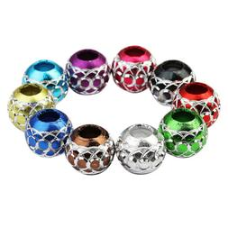 30 Mixed Large Hole Aluminum Beads Lantern Spacer Bead for E