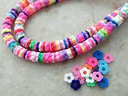 300 Fimo Clay 5mm Katsuki Multi-Color Flower Slice Flat Heis